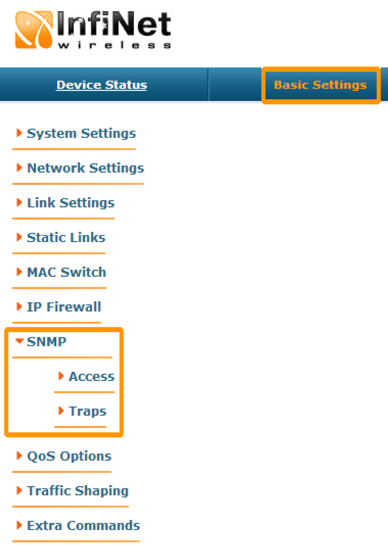 SNMP configuration - InfiNet Wireless: Technical Documentation