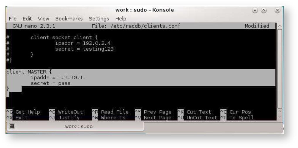 Процедура аутентификации с использованием RADIUS-сервера